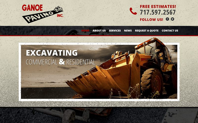 Ganoe Paving Responsive Website