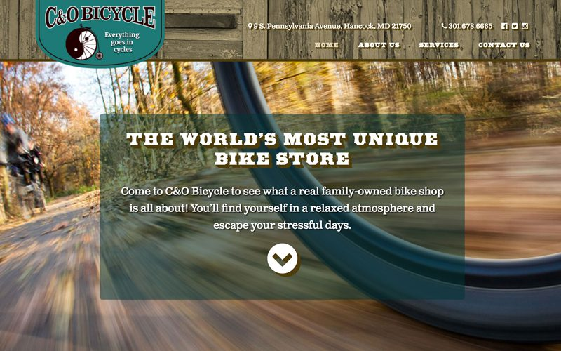 C&O Bicycle Responsive Website